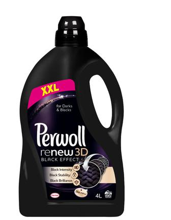 Средство д/стирки Perwoll 3D эффект восст черного, 4000мл