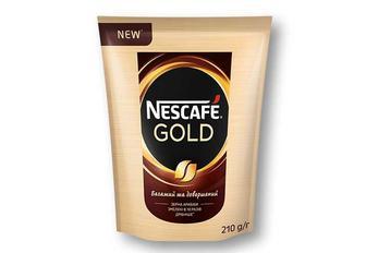 Кава Gold розчинна, сублімована «Nescafe» - 210 г