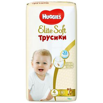 Скидка 28% ▷ Підгузники-труси Huggies Elite Soft Pants(4) Mega 42шт