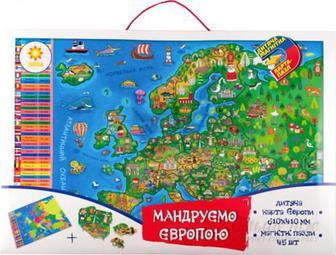 Карта-пазл Зірка магнітна Мандруємо Європою 93877