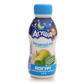 Йогурт 2,7% лесные ягоды-мелиса/яблоко-мелиса для детей от 8-ми месяцев, Агуша, 200г