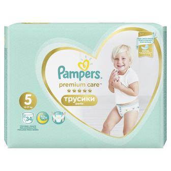 Купить Подгузники-трусики Pampers Premium Care Junior 34 шт