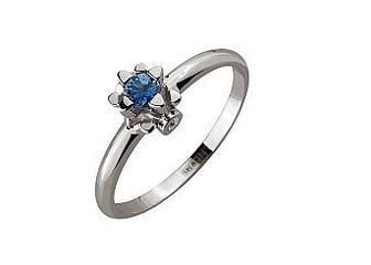 Золотое кольцо с бриллиантами и корундом