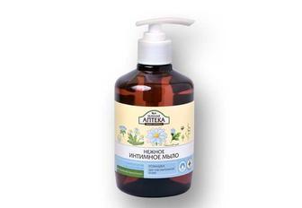 Мыло интимное Ромашка, для чувствительной кожи   Зеленая аптека  370 мл