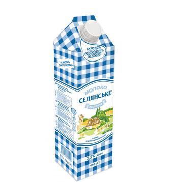 Молоко ультрап. Селянское 2,5% Люстдорф 0,95 л