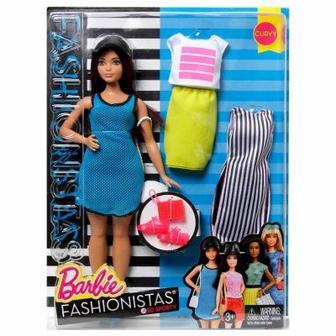 Кукла в коротком платье с набором одежды Barbie Модница (DTD96 / DTF01)