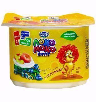 Йогурт Локо Моко Персик, Полуниця, Яблуко-Груша 1,5% 115г