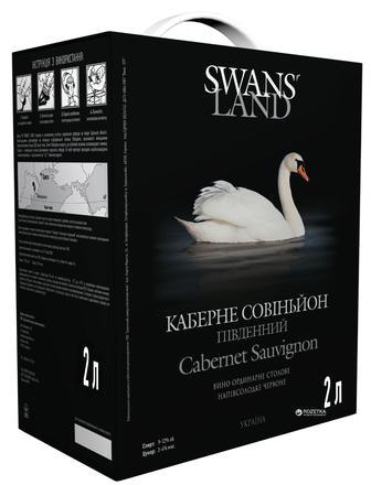 Вино ччервоне Каберне н/с або біле Совіньйон н/с SWANS LAND 2л