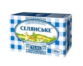 Масло солодковершкове Селянське 72,5% Люстдорф 200г