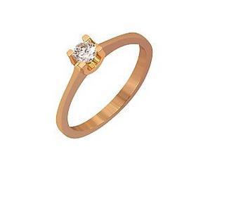 Золотое кольцо с фианитом Артикул 01-17056831