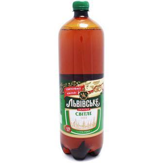 Пиво Львівське світле 4,5%, 1 л