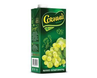 Нектар «Сочный» яблуко-білий виноград, 0,95л
