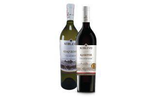 Вино Каберне червоне сухе, Шардоне біле сухе Коблево 0,75л