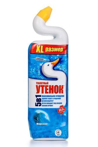 Средство для чистки туалета Туалетный Утенок Активный Морской, 900мл