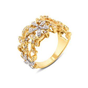 Золотое кольцо с бриллиантами. Артикул 52656/1.25л к