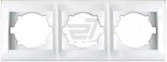 Рамка тримісна Erste Prestige горизонтальна білий 9206-83,W