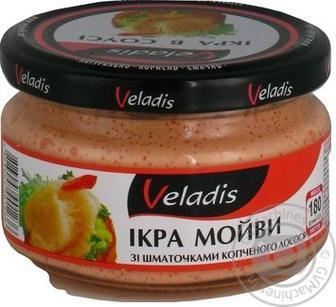 Ікра мойви Veladis зі шматочками копченого лосося 180г