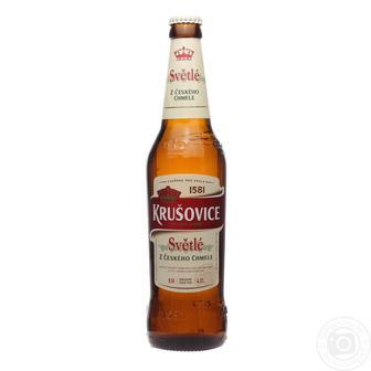 Пиво світле, темне Krusovice 0,5л