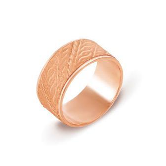 Обручальное кольцо с алмазной гранью. Артикул 10141