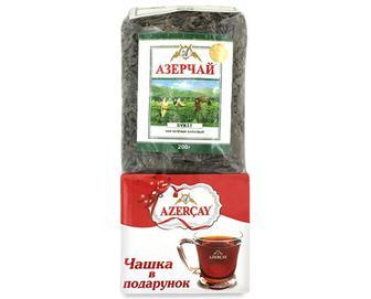 Чай зелений Azercay листовий + чашка, 200г