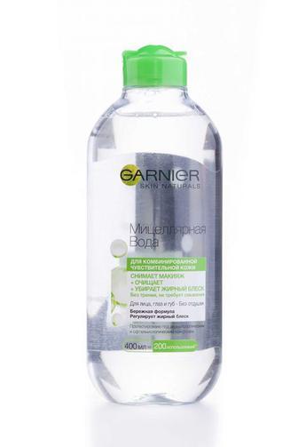 Мицеллярная вода для лица Garnier для очистки комбинированной и чувствительной кожи, 400мл