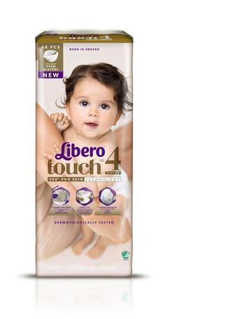 Подгузники LIBERO Touch р4 7-11 кг 48 шт