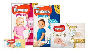 Детские подгузники, подгузники-трусики и салфетки HUGGIES