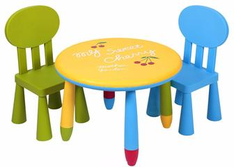 Lindo Дитячий столик з двома стільчиками.