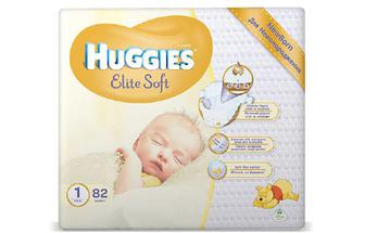 Підгузки Huggies Elite Soft 1 (2-5 кг) 82 шт./уп