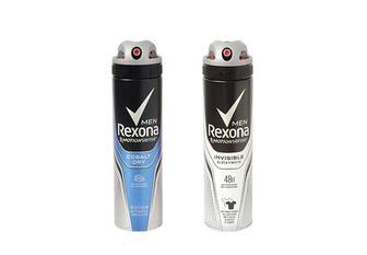 Дезодорант Men, Invisible black+white/ Cobalt Dry, антиперспірант, аерозоль Rexona 150 мл