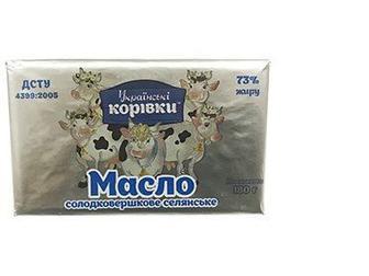 Масло селянське 73%, Українські корівки, 180г