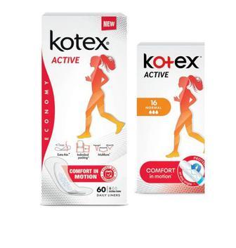 Прокладки для щоденної гігієни 60 шт kotex Active