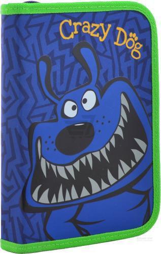 Пенал твердий без клапана Crazy dog YES синій