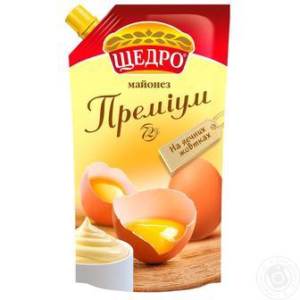 Майонез Преміум 72% Щедро 350г