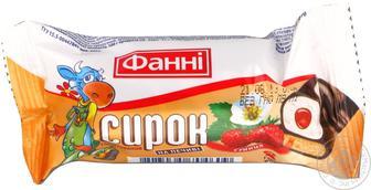 Сирок Фані глазурований на печиві суниця 15% 50г