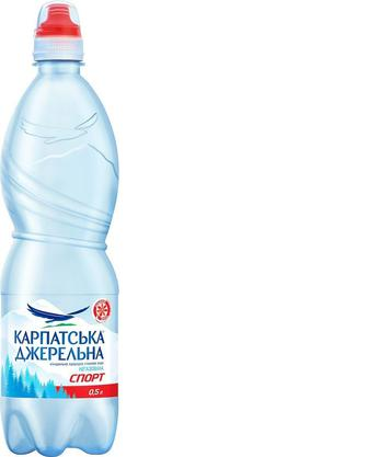 Вода мінеральна Карпатська Джерельна, спорт-кеп н/г,0,5 л