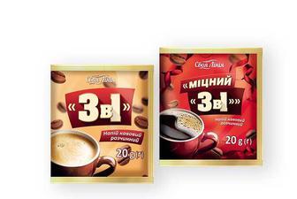 Напій кавовий 3 в 1, розчинний/ міцний розчинний Своя Лінія 20 г