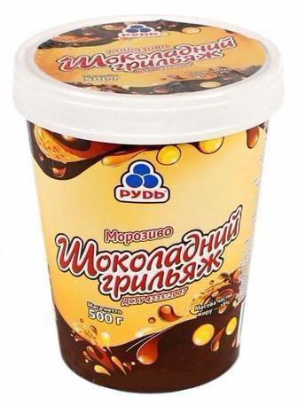 Морозиво Шоколадний Грильяж Рудь 500г