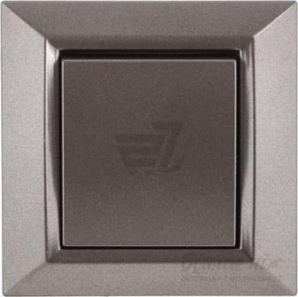 Вимикач одноклавішний UP! (Underprice) Vesta без підсвітки 10 А 220-250В сірий металік