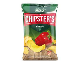 Чіпси Flint Chipster's натуральні зі смаком паприки, 70г