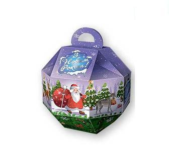 Набір подарунковий з кондитерських виробів Новорічна кулька Своя Лінія 95 г