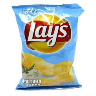 Чіпси картопляні Лайс зі смаком краба/Сир/Сметана і зелень 133г