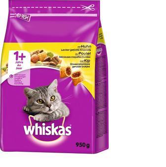 Корм для котів Whiskas з куркою сухий, 950 г