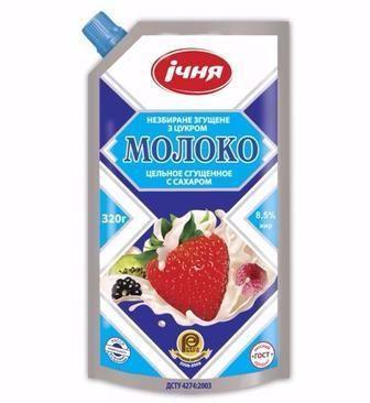 Молоко згущене незбиране з цукром  Ічня  300 г