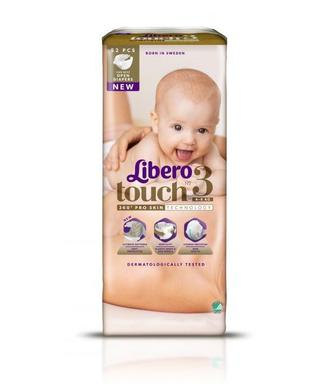 Підгузки Libero Touch Розмір 3 (4-8 КГ) 52 шт