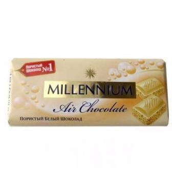 Шоколад пористий білий Millennium Premium 90 г
