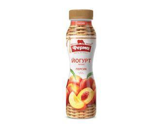 Йогурт Ферма, персик, 250г