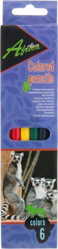 Олівці кольорові 6 шт. Africa E11609 Economix