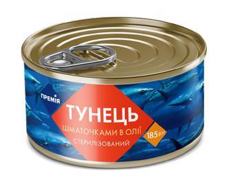 Тунець шматочками в олії «Премія»® 185г