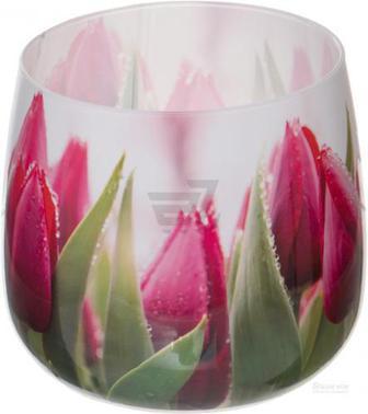 Свічка у склянці Квіти sn71/07 Bispol